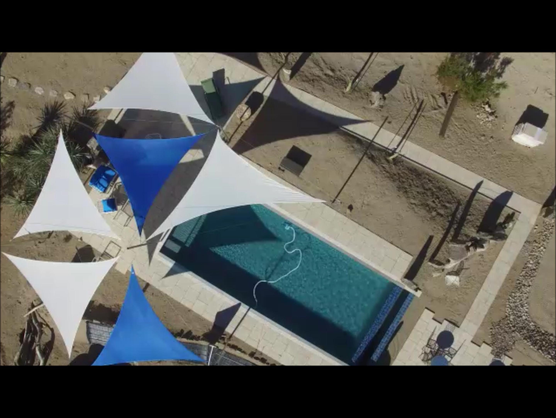 HP pool aerial view