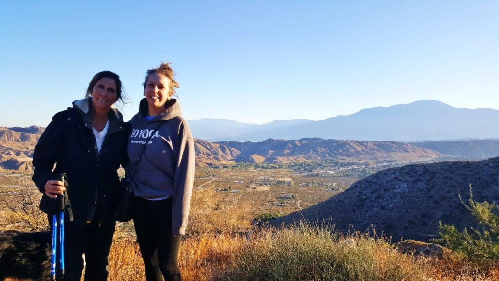 Catie and Diane on hike